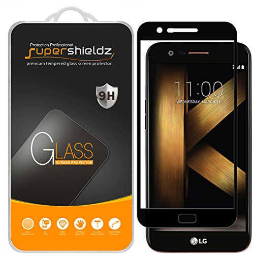 [2-Pack] Supershieldz for LG K20 Plus Tempered Glass Screen Protector, [Full Screen Coverage] Anti-Scratch, Bubble Free, Lifetime Replacement (Black)