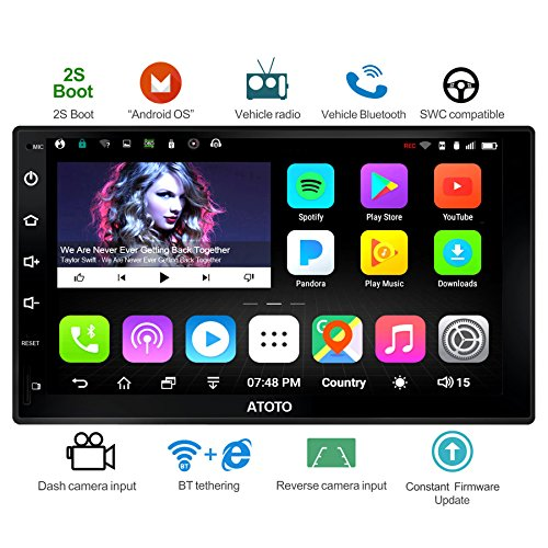 ATOTO A6 Universal 2 Din Android Car Navigation Stereo with Dual Bluetooth - Standard A6Y2710S 1G/16G Car Entertainment Multimedia Radio,WiFi/BT Tethering Internet,Support 256G SD &More