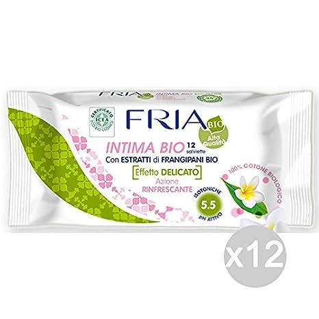 Juego 12 Fria Toallitas íntima X 12 Biologic Cuidado e higiene del cuerpo