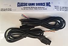 Two 6FT 9 Pin Replacement Cable Cord Wires to Repair Amiga CD32 Controller Joystick
