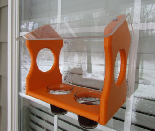 JCs Wildlife Oriole Window Feeder Diner Recycled Poly Lumber Large