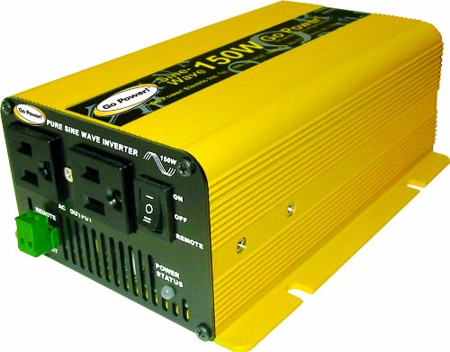 Go Power! GP-SW150-12 150-Watt Pure Sine Wave Inverter by Bennett Marine