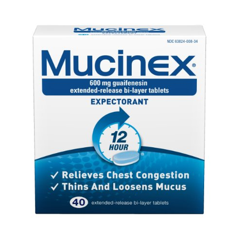 Mucinex Extended-Release Bi-Layer Tablets, 40 Count