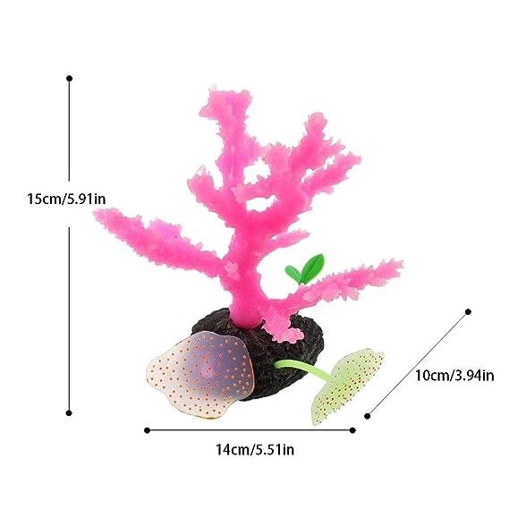 LiféUP Paisajismo de coral artificial para acuario y acuario Planta Coral Artificial Mini Decoración Detalle Imitada para Pescado Acuario Tanque Adorno ...