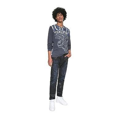 Desigual Camiseta MERICO Azul de Hombre. XL Azul: Amazon.es: Ropa ...