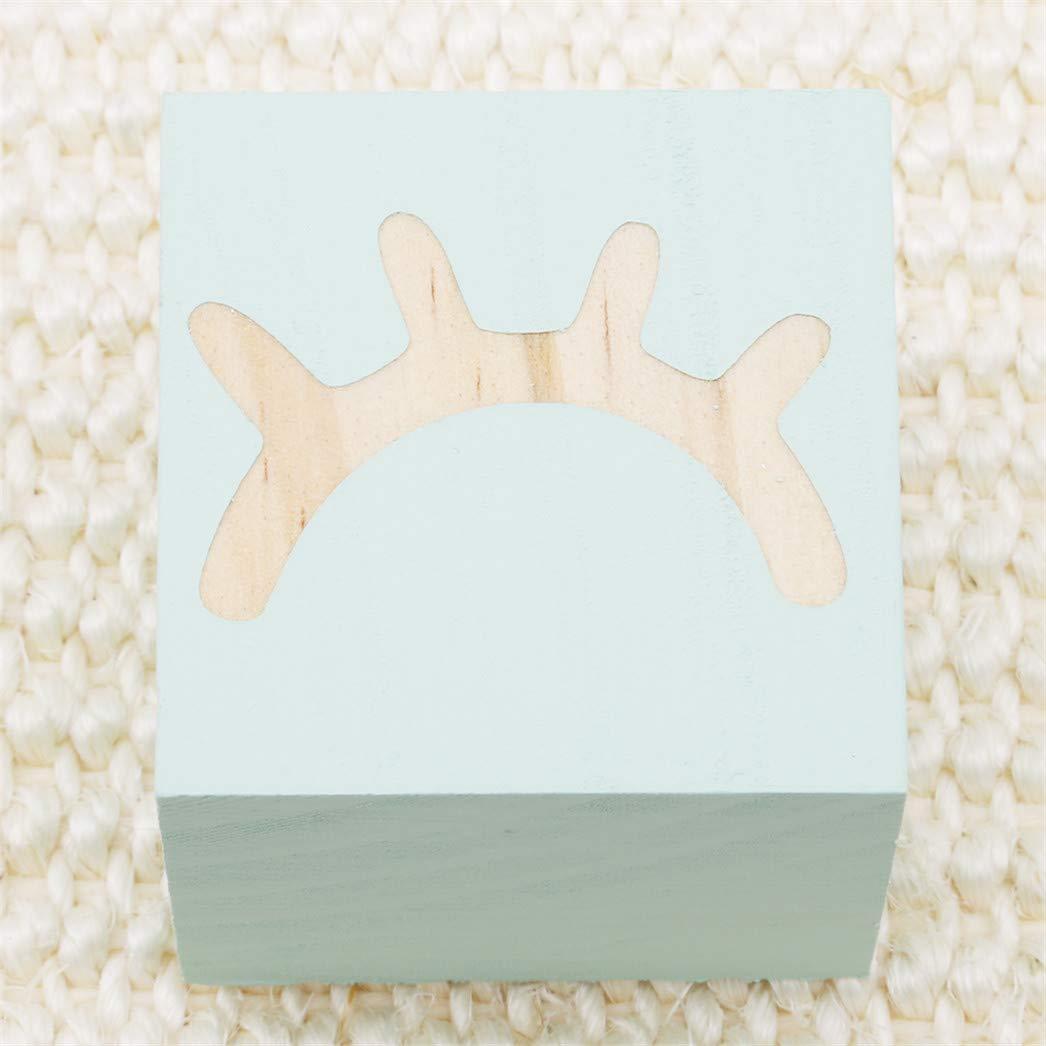 Rose Buelgma Cils De Bricolage Ornement en Bois Massif Embellissements De Scrapbooking Blocs Carr/és Mini Cube