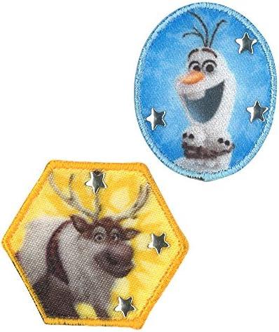 ミノダ アナと雪の女王 ワッペン小 オラフとスヴェン 小 D01Y0586