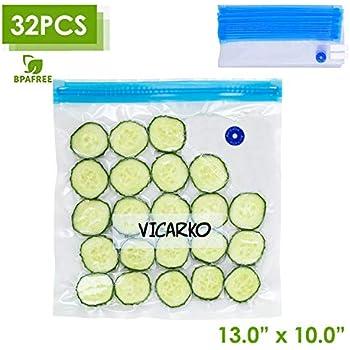 Transparent Vacuum Sealer Bags Reusable Storage Bag Food Saver 10//30pcs