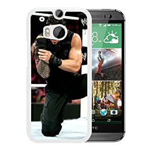 Fashionable And Unique Designed Cover Case With Wwe Superstars Collection Wwe 2k15 Roman Reigns 09 White For HTC ONE M8 Phone Case
