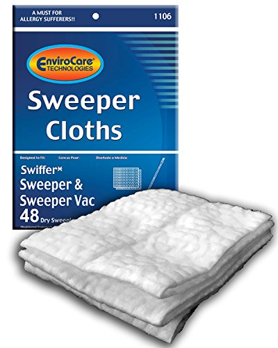 EnviroCare Sweeper Cloth Replacements for Swiffer Sweepers and Sweeper Vacs (48 - Floor Refill Duster