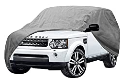 OxGord Auto Cover - 1 Layer Dust Cover - Lowest Price - Ready-Fit Semi Glove Fit fro SUV, Van, and Truck - Fits up to 222 Inches