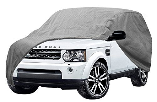 OxGord Auto Cover - 1 Layer Dust Cover - Lowest Price - Ready-Fit Semi Glove Fit fro SUV, Van, and Truck - Fits up to 206 Inches (Hummer Cover Car)