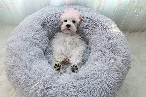 Segle Deluxe Haustierbett für Hunde und Katzen,Cat Bett Für Katzen Und Kleine Donut-Nist-Höhlenbett für kleine…