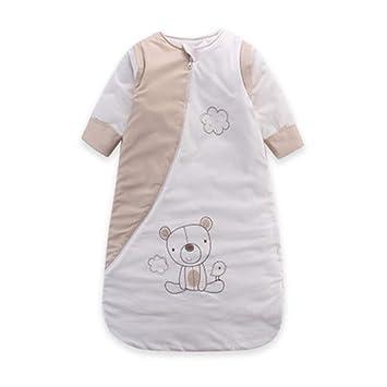 TUWEN Saco de Dormir para Bebés 100% Algodón Antideslizante es Espeso para Niños y Niñas Saco de Dormir para Bebés: Amazon.es: Jardín