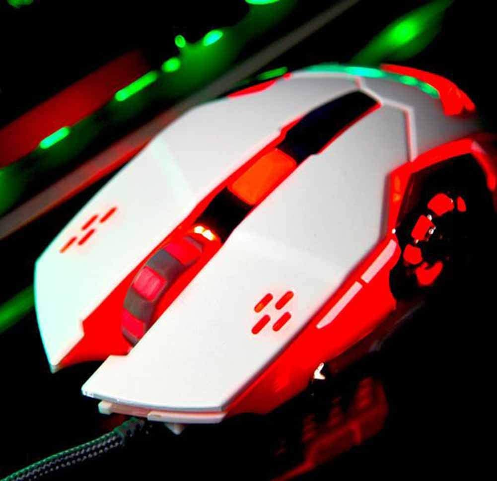 Dandan Wired Mouse Gaming Gaming Mechanical Mouse Macro Definition Glowing Wired Mouse Wheel Slide with Enhanced Gaming Fretting