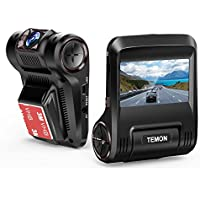 "Dash Cam, TEMON 2.45""LCD FHD 1080p WIFI Dashboard Camera, Wide Angle LensCar Video Recorder with G-Sensor, WDR, Loop Recording"