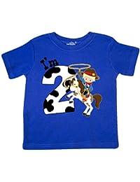 Im Two-cowboy riding horse birthday Toddler T-Shirt