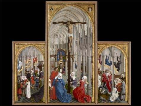 Oil Painting 'Rogier Van Der Weyden,The Seven Sacraments,ca.1399-1464' 18 x 24 inch / 46 x 61 cm , on High Definition HD canvas prints is for Gifts And Gym, Nursery And Powder Room Decoration, reviews
