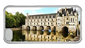 Cheap iphone 5C free shipping covers Chenonceau Castle in Paris of France PC Transparent for Apple iPhone 5C