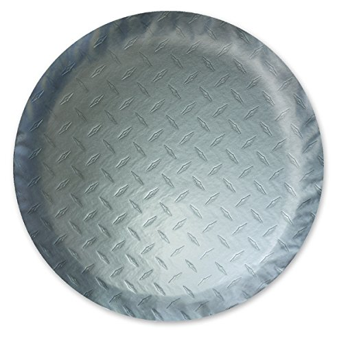 ADCO 9757 Silver Diamond Plated Steel Vinyl Spare Tire Cover J, (Fits 27