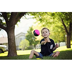 "LMC Products Mini Foam Footballs - Foam Balls - Kids Outdoor Toys - Grips Easy - Four 5"" Kids Toys, These Balls for Kids Include One of Each Color - Orange, Green, Pink, Yellow - Best Mini Football"