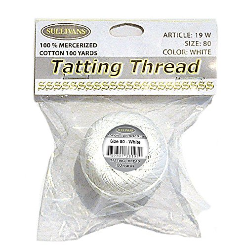 Sullivans Tatting Thread (White) 4 count by Sullivans