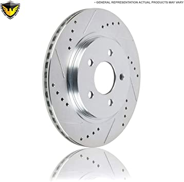 Front Disc Brake Rotors And Ceramic Pads Kit For Audi A4 Q5 A5 Quattro A7 allroad A6 S5