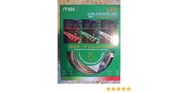 quality design 4dc31 ee118 Meil LED Ultra Flex Color Changing Rope Light with 17 Color modes!