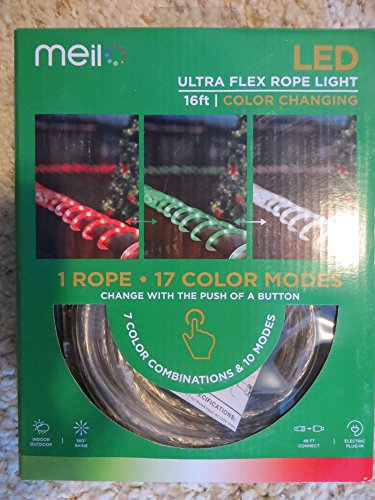 Meil LED Ultra Flex Color Changing Rope Light with 17 Color modes!
