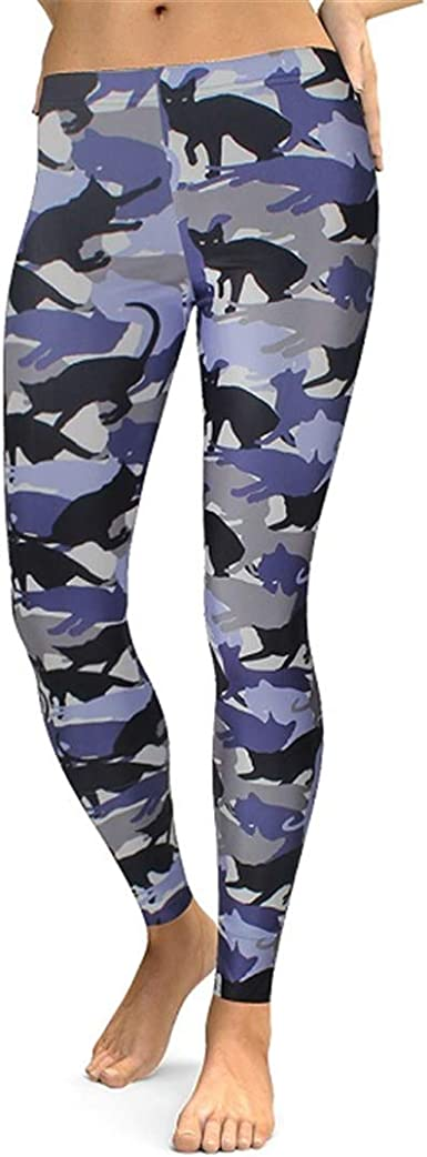 Gato Polainas Mujeres Animal Legging de impresión Digital de Fitness Leggins Cintura Delgada más los Pantalones del tamaño del Entrenamiento Legins: Amazon.es: Ropa y accesorios