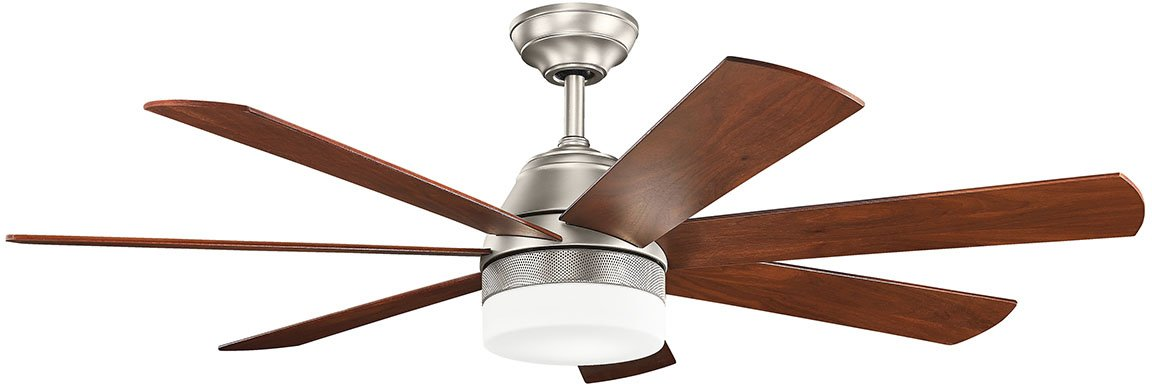 Kichler 300239NI, Ellys Brushed Nickel 56 Ceiling Fan with Light Wall Control