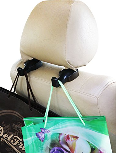 Car Seat Back Headrest Hanger ? Pack of 4 Uni...