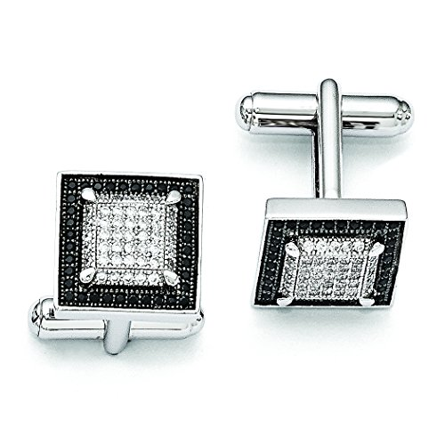Sterling Silver and CZ Brilliant Embers Cuff Links for ()