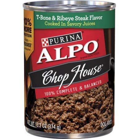 - Purina ALPO Chop House T-Bone & Ribeye Steak Flavor Dog Food (Pack of 2)
