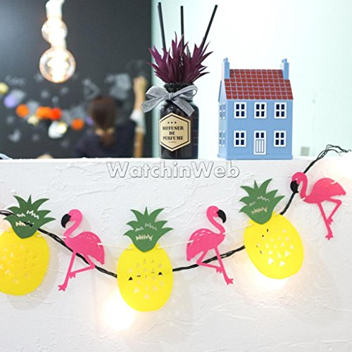 VIPASNAM-Pineapple Flamingo Bunting Tropical Luau Summer Banner Party Picnic Outdoors (Flag Banner Yards)