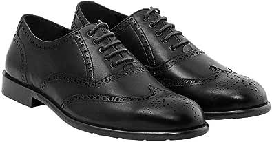 ازيرها حذاء اوكسفورد للرجال، متعددة - اسود