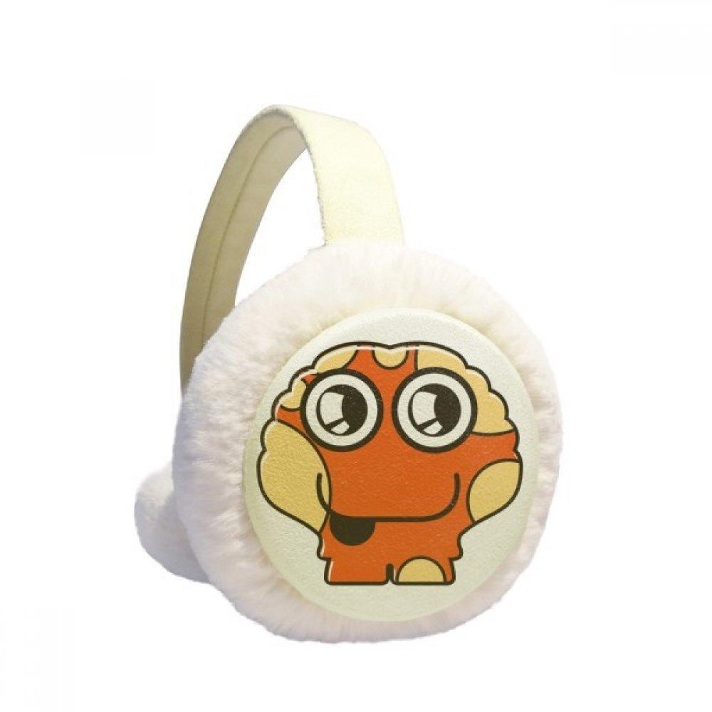 Universe And Alien Orange Alien Winter Earmuffs Ear Warmers Faux Fur Foldable Plush Outdoor Gift