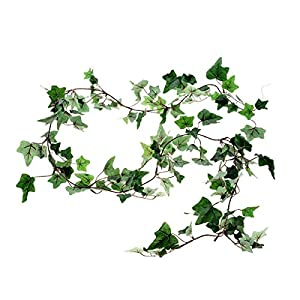 FloristryWarehouse Artificial Ivy Garland Small Leaf Dark Green 180cm/6ft 24