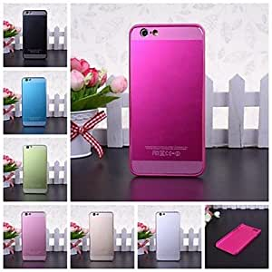 LCJ Frosted Effect Patchwork Plastic Hard Case for iPhone 6(Assorted Colors) , Golden