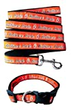 Baltimore Orioles Nylon Collar and Matching Leash for Pets (MLB Official by Pets First) Size Large