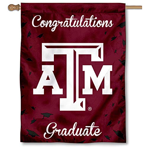 College Flags and Banners Co. Texas A&M Aggies Graduation Gift Banner -