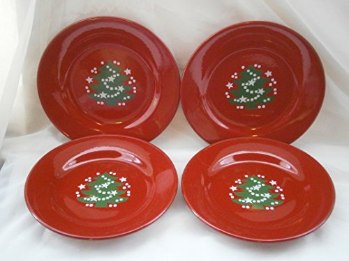 Waechtersbach CHRISTMAS TREE Dinner Plates x 4