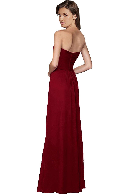 Victory Bridal Damen Glamour Abendkleider Lang Chiffon Brautjungfernkleider  Prom/Ballkleider Partykleider Neu: Amazon.de: Bekleidung
