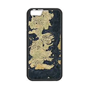 iPhone 6 Plus 5.5 Inch Cell Phone Case Black Map Game of Thrones Ompgz