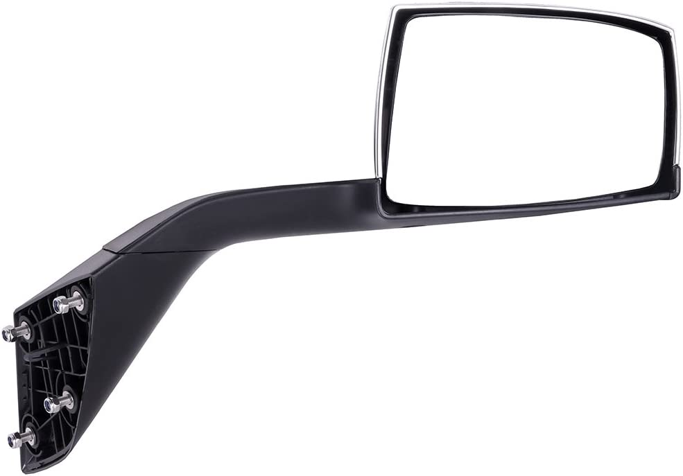 cciyu Rearview Mirror Hood Chrome Towing Mirror Wide Angle Mirror Driver Left Side Fits for 2008-2016 Freightliner Cascadia Support Arm Manual Adjusted