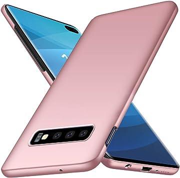 TenYll Funda para Samsung Galaxy S10 Plus,Nueva Cubierta Delgado Caso PC Back Cases Cover para Samsung Galaxy S10 Plus -Oro Rosa: Amazon.es: Electrónica