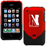NCAA Northeastern Huskies Red iPhone 3G/3GS Duo Shell Case