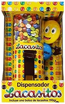 Lacasitos Dispensador de Grageas de Chocolate - 190 g