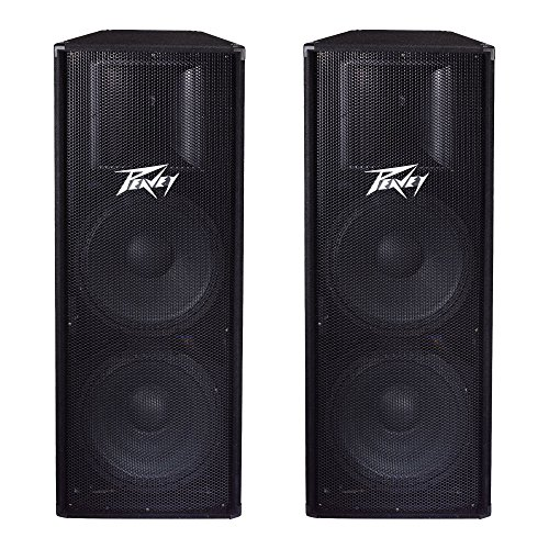 Peavey 2-Way Double 15'' Woofer Voice Coils 1400W PA System Loudspeaker (2 Pack) by Peavey