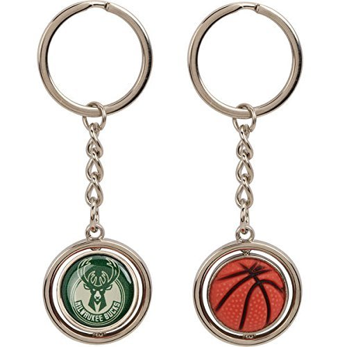 NBA Milwaukee Bucks NBA-KT-827-14 Spinning Keychain, One Size, Multicolor by aminco